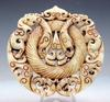 Jade Stone 2 Sides Carved Large Pendant