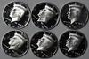 3 Each Silver Proof 2005 S and 2007 S Kennedy Halves