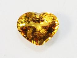 Golden Heart in Natural Sapphire - 0.84 ct.