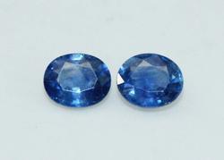 Natural Royal Blue Sapphire Pair - 1.55 cts.