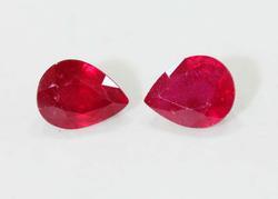 Natural Ruby Pair - 5.94 cts.