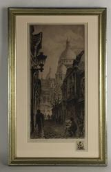 Aime Edmond Dallemagne (1882-1971)S/N Limited Edition Etching of Sacré Cœur