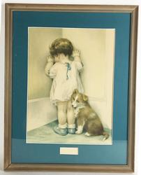 Charming Vintage Gravure, Circa 1935 Beautifully Matted and Framed