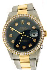 Rolex Datejust 36mm Diamond Dial & Diamond Bezel Watch