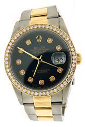 Rolex Datejust 36mm Diamond Dial & Diamond Bezel Watch