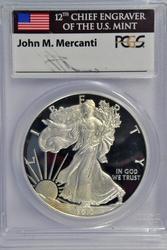 PCGS PR69DCAM 2013-W $1 Eagle Mercanti signed