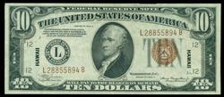 CH AU 1934-A Small Size $10 Hawaii Fed Reserve Note