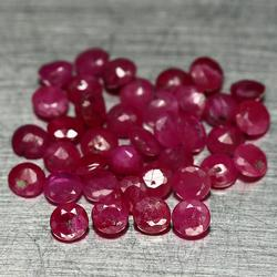 Large 4.13ct round cut natural Burmese Ruby parcel