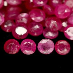 Large 9.25ct round cut natural Burmese Ruby parcel