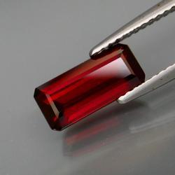 Rich ruby red 2.48ct emerald cut Garnet