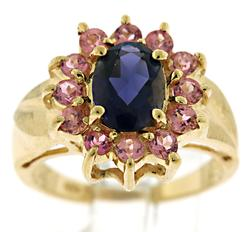 Amazing Tanzanite with Pink Tourmaline Ring