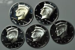 2005 S Silver US Kennedy Proof Halves