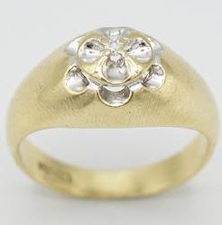 Men's Solid Gold & Diamond Wedding Band- Size 7