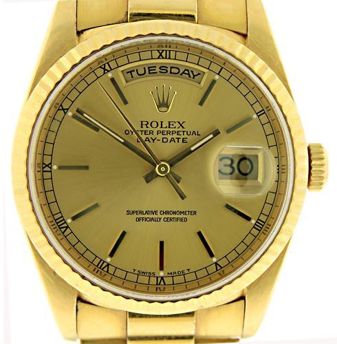 18kt Rolex Day Date President Double Quickset Watch