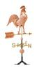 White hall Decorative Copper Rooster Weathervane - Polished