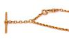 Rose Gold Pocket Watch Rope Chain, 11in