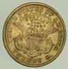 1875-S $20.00 Liberty Head Gold Double Eagle - Circulated