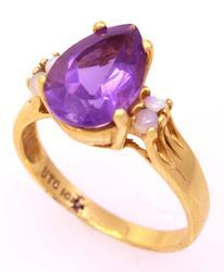 Amethyst & Opal Ring, Size 7.75