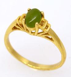 Jadeite Ring in Gold, Size 6