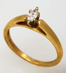 Diamond Solitaire Ring, Size 7.25