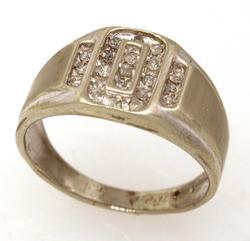 Diamond Ring in White Gold, Size 7.25
