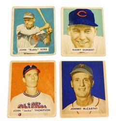 4 Bowman 1949 Baseball Cards