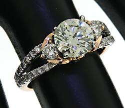 Rose White Gold 1.26ctw Round Diamond Ring
