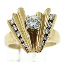 Amazing Chevron Diamond Ring
