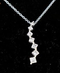 Princess Cut Journey Diamond Necklace