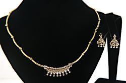 Fabulous 21kt Yellow Gold Necklace and Earrings