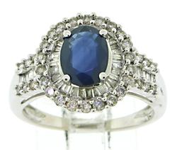Fancy Oval Sapphire and Diamond Ring
