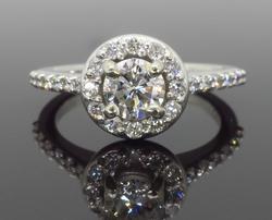 Halo Style .89CTW Diamond Engagement Ring