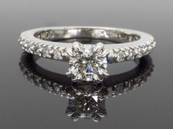 14K White Gold .72CTW Diamond Ring