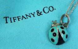 Authentic Tiffany & Co. Sterling Lady Bug Necklace