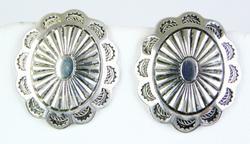 Vintage N.A. Indian Sterling Conch Earrings