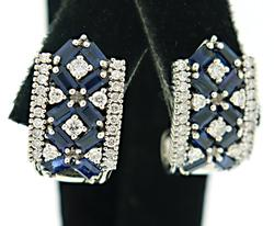 Elegant Sapphire and Diamond Earrings