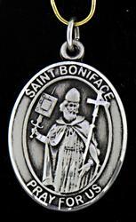 Saint Boniface Sterling Silver Pendant