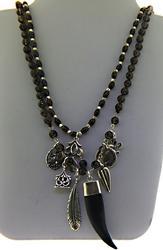 Double Smokey Quartz Necklace