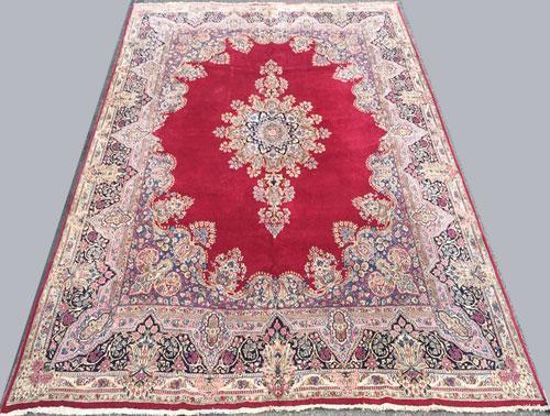 Absolutely Fantastic 1960s Authentic Handmade Vintage Royal Persian Kerman