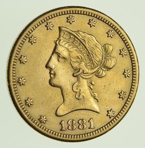 1881-CC $10.00 Liberty Head Gold Eagle - Circulated