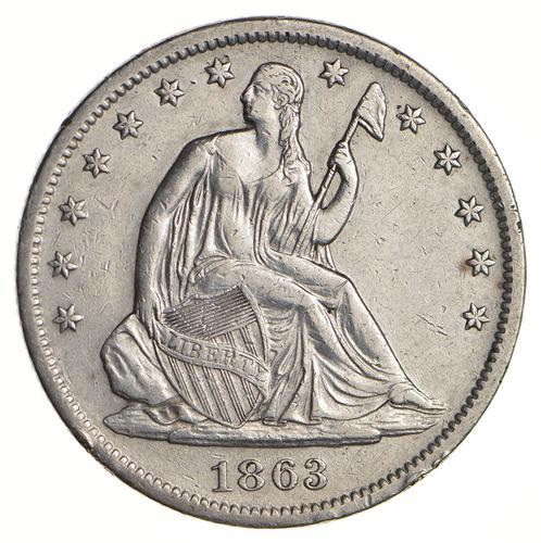 1863-S Seated Liberty Half Dollar - Circulated