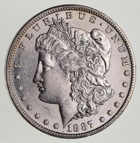 1887-S Morgan Silver Dollar - Choice