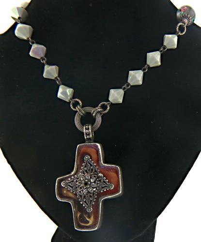 St. Topaz Cross Necklace