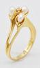 Classic 14kt Gold Pearl & Diamond Ring