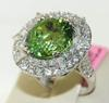 Fabulous Green Tourmaline & Diamond Cocktail Ring
