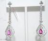 18kt White Gold Pink Sapphire & Diamond Earrings