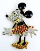 3 Inch Minnie Mouse Rhinestone Pin