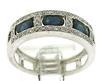 Flashy Blue Sapphire and Diamond Ring