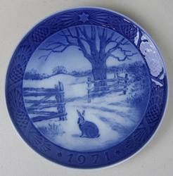 1971 Royal Copenhagen Christmas Plate