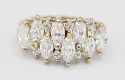 14kt Solid White Gold Gemstone Ring